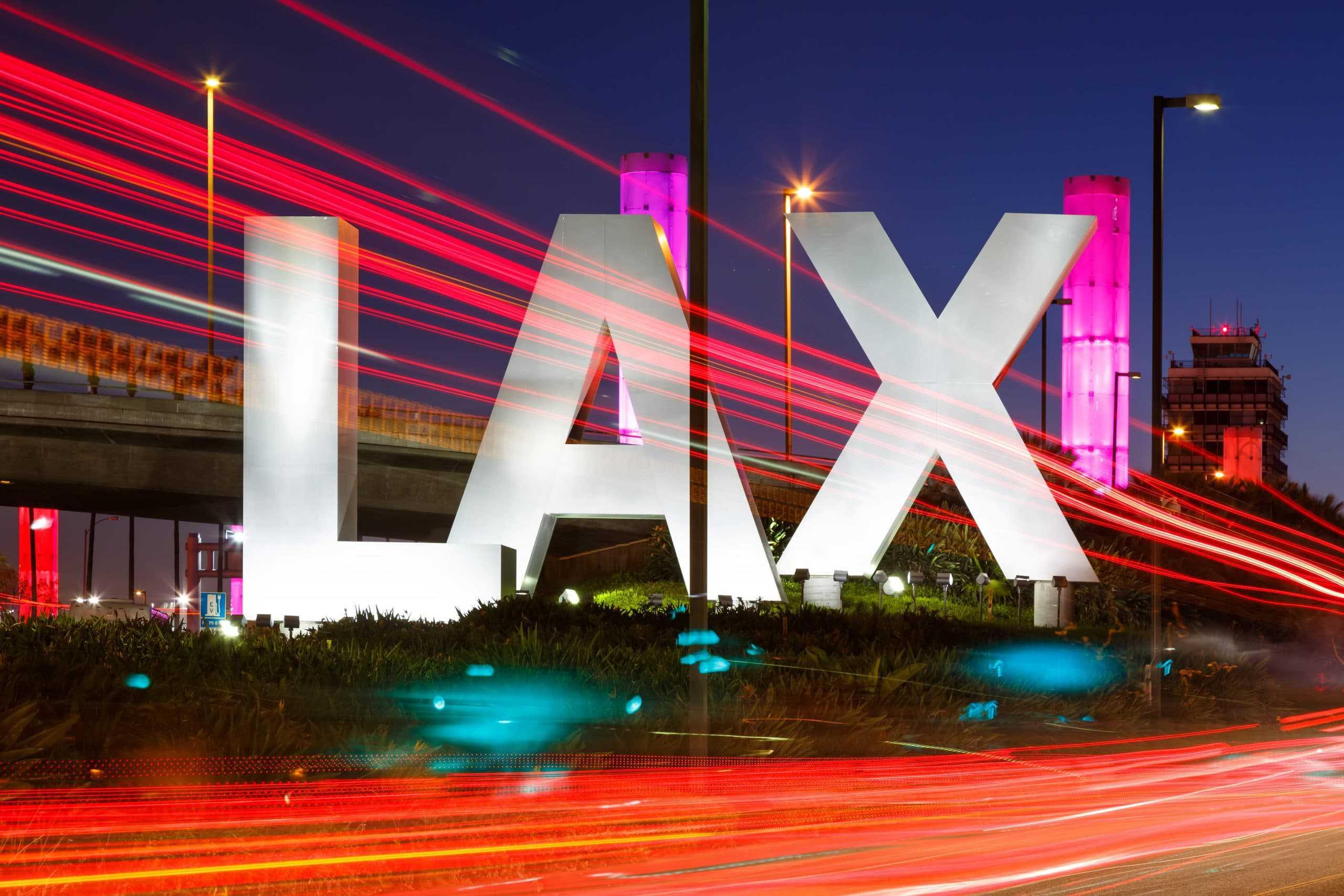 Flughafen Los Angeles International Airport LAX Logo sign
