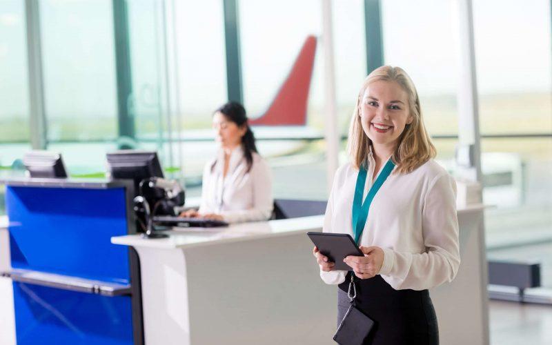 Servicio de recepción del aeropuerto